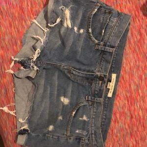 Forever twenty one distressed shorts